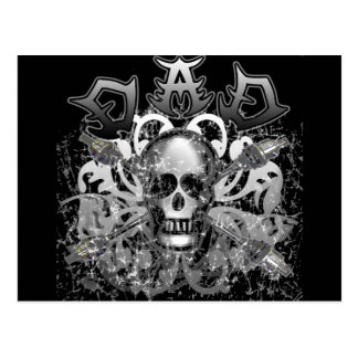 Cool DAD in Heavy Metal Style Tshirts and Gifts Postcard