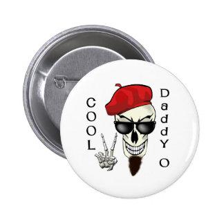 Cool Daddy - O Beatnik Skull 6 Cm Round Badge