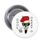 Cool Daddy - O Beatnik Skull Buttons