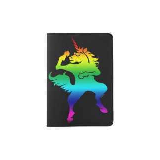 Cool dancing unicorn passport holder