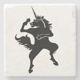 Cool dancing unicorn stone coaster