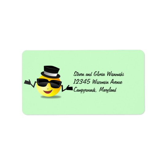 Cool Dapper Smiley Address Label