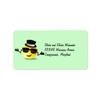 Cool Dapper Smiley Label