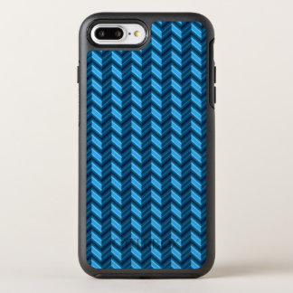 Cool Dark Blue Chevron OtterBox Symmetry iPhone 7 Plus Case