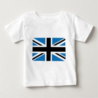 Cool Dark Blue Union Jack British(UK) Flag Baby T-Shirt
