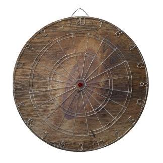 Cool Dark Brown Rustic Wood Look Background Dartboard