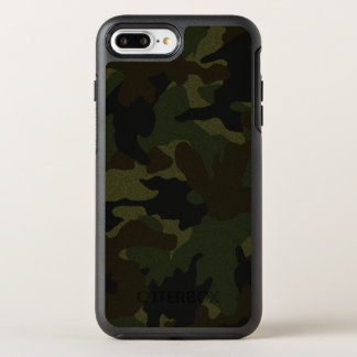 Cool Dark Green Camo Camouflage Pattern Rugged OtterBox Symmetry iPhone 8 Plus/7 Plus Case