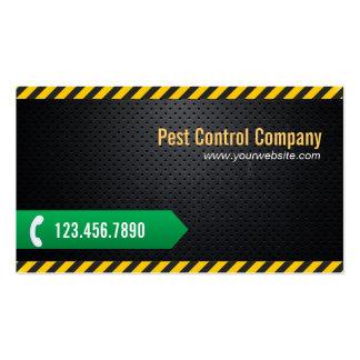 Cool Dark Metal Pest Control Business Card