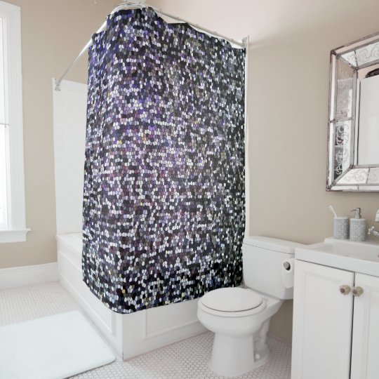 Cool Dark Silver Stained Glass Mosaic Pattern Shower