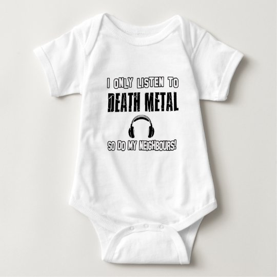 Cool DEATH METAL designs Baby Bodysuit