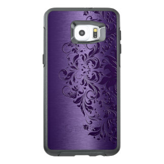 Cool Deep Purple Background & Floral Lace OtterBox Samsung Galaxy S6 Edge Plus Case