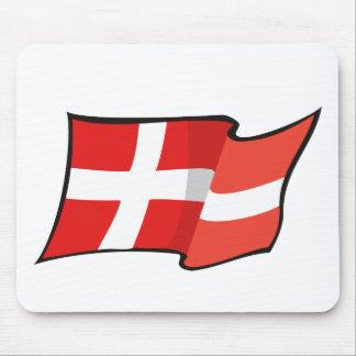 Cool Denmark Flag Mouse Mat