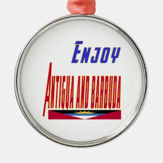 Cool Designs For Antigua and Barbuda Silver-Colored Round Decoration