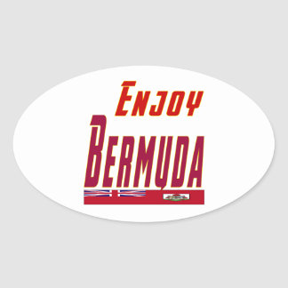 Cool Designs For Bermuda Oval Stickers