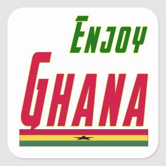 Cool Designs For Ghana Square Sticker