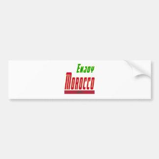 Cool Designs For Morocco Bumper Stickers