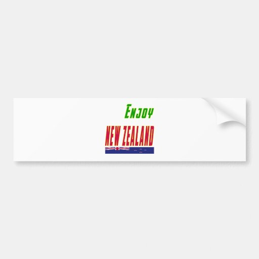 Cool Designs For New Zealand Bumper Stickers