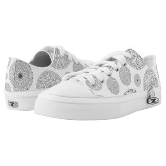 Cool Details on Circles Print - Low-Top Sneakers