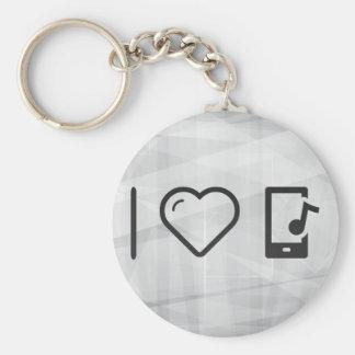 Cool Device Medias Basic Round Button Key Ring