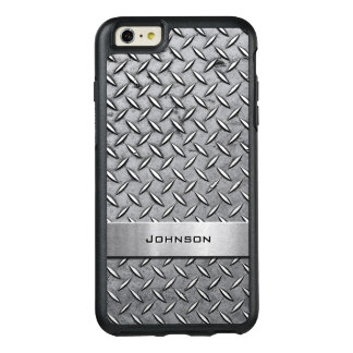 Cool Diamond Cut Silver Metallic Manly Look OtterBox iPhone 6/6s Plus Case