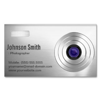 Cool Digital Camera - Photographer Photography Magnetic Business Cards (Pack Of 25)