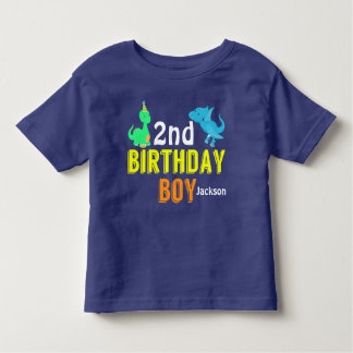 Cool Dinosaur Birthday Boy Party Custom Toddler T-Shirt