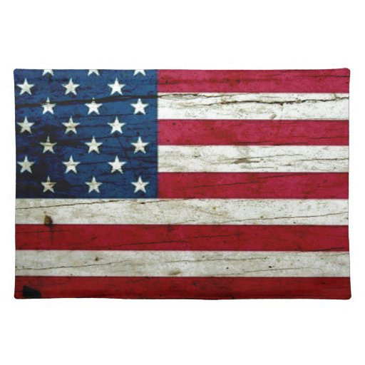 Cool Distressed American Flag Wood Rustic Place Mat Zazzle