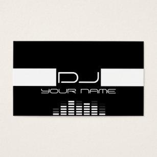Dj music equalizer sound business cards business card printing cool dj business card colourmoves