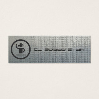 Cool dj icon metalic business card