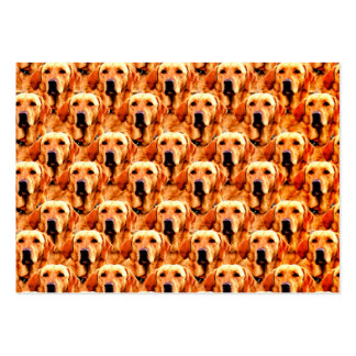 Cool Dog Art Doggie Golden  Retriever Abstract Large Business Cards (Pack Of 100)