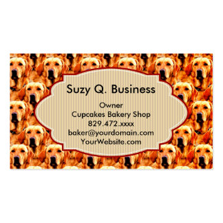 Cool Dog Art Doggie Golden  Retriever Abstract Double-Sided Standard Business Cards (Pack Of 100)