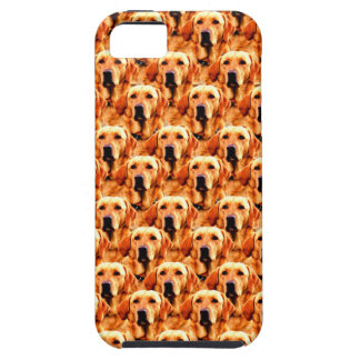 Cool Dog Art Doggie Golden  Retriever Abstract iPhone 5 Cases