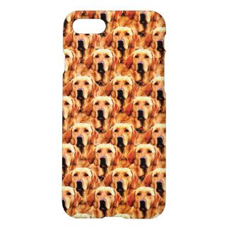 Cool Dog Art Doggie Golden Retriever Abstract iPhone 7 Case