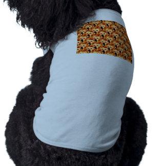 Cool Dog Art Doggie Golden  Retriever Abstract Sleeveless Dog Shirt