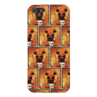 Cool Dog Art Doggie Noses Abstract Mosaic iPhone 5 Case