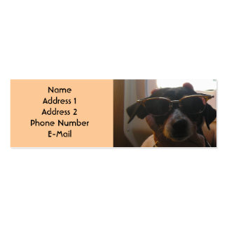 COOL DOG PROFILE CARD Double-Sided MINI BUSINESS CARDS (Pack OF 20)