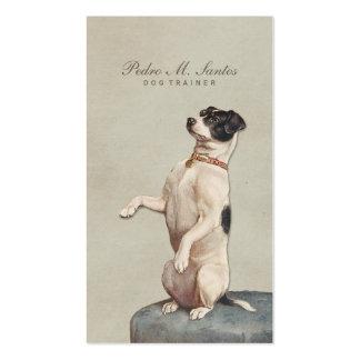 Cool Dog Trainer Vintage Animal Simple Elegant Pack Of Standard Business Cards