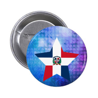 Cool Dominican Republic Flag Star 6 Cm Round Badge