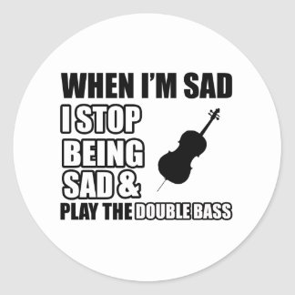Cool Double Bass Lovers Designs Sticker