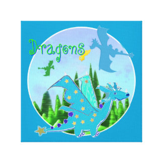Cool Dragon Artwork for Kids Canvas Prints