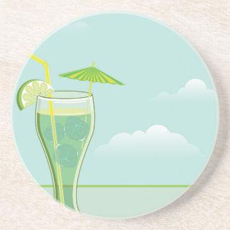 Cool Drink vector Sandstone Coaster