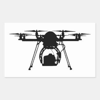 Cool Drone Bro Rectangular Sticker