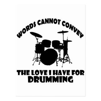 cool Drummer designs Postcard