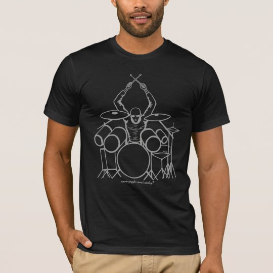 Cool drummer graphic art t-shirt design