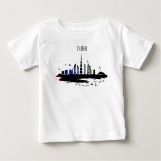 Cool Dubai skyline view sketch design Baby T-Shirt
