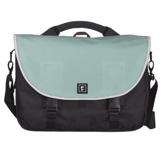 Cool Duck egg blue - add own text image design Laptop Commuter Bag