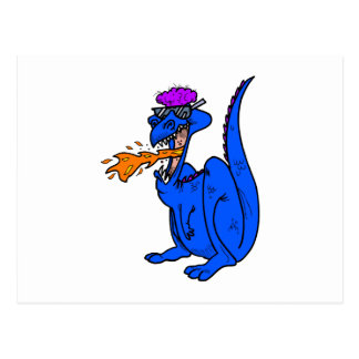Cool Dude Flaming Dragon Postcard