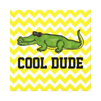 Cool Dude Gator Kids Wall Art Canvas Prints