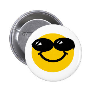 Cool dude smiley button
