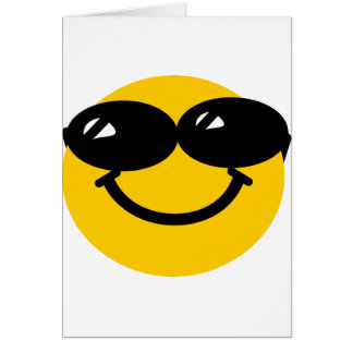 Cool dude smiley greeting card